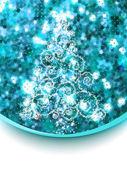 Christmas tree on blue glitter. EPS 8 — Stock Vector