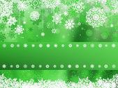 Green christmas with snowflake. EPS 8 — Stock Vector