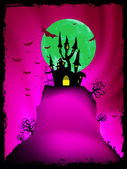Halloween image with old mansion. EPS 8 — Stock Vector