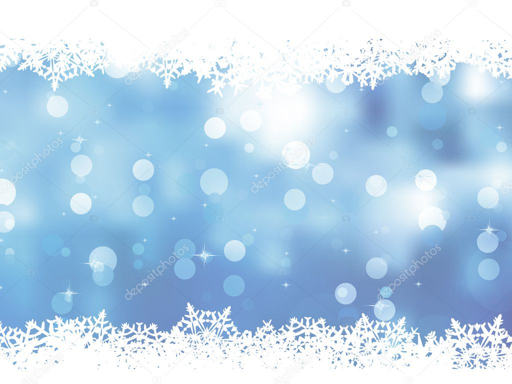 Christmas blue background with snow flakes. And also includes EPS 8 vector  Stock Vector #13805032