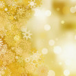 Golden christmas background. EPS 8 — 图库矢量图片
