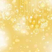 Golden christmas background. EPS 8 — Stock Vector
