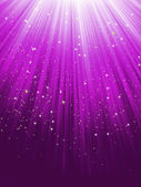 Stars on purple striped background. EPS 8 — Stock Vector