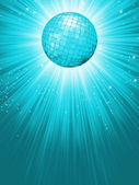 Party Banner with Disco Ball. EPS 8 — Stock Vector