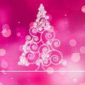 Christmas tree illustration on purple bokeh. EPS 8 — Vettoriale Stock