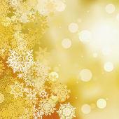 Festlig guld jul med bokeh lampor. eps 8 — Stockvektor