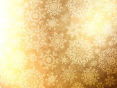Jul bakgrund med snöflingor. eps 8 — Stockvektor