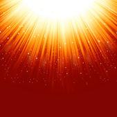 Stars descending on a path of golden light. EPS 8 — Stock Vector