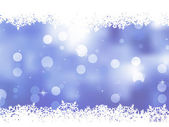 Christmas blue background with snow flakes. EPS 8 — Vector de stock