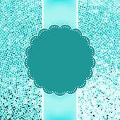 Blue glitter sparkles snowflakes background. EPS 8 — Stock Vector