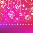Pink Christmas Background. EPS 8 — Stockvektor