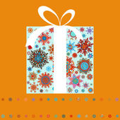 Christmas gift boxes made from snowflakes. EPS 8 — Stock Vector