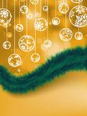 优雅的橙色圣诞背景。8 eps — 图库矢量图片