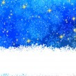 Blue background with snowflakes. EPS 8 — Imagen vectorial