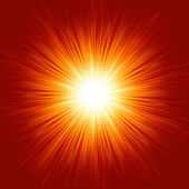 Stella burst di fuoco rosso e giallo. eps 8 — Vettoriale Stock