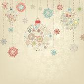 圣诞球的米色背景。8 eps — 图库矢量图片