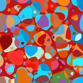 Beautiful colorful heart shape background. EPS 8 — Vector de stock
