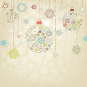 Beige background with christmas balls. EPS 8 — Stock Vector