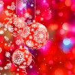 Christmas bokeh background with baubles. EPS 8 - Stock Vector