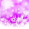 Pink background with snowflakes. EPS 8 — Stock Vector