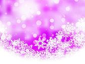 Roze achtergrond met sneeuwvlokken. eps 8 — Stockvector