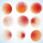 抽象半色调圆设计。8 eps — 图库矢量图片