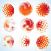 Abstract halftone circle design. EPS 8 — 图库矢量图片