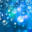 Christmas background with baubles. EPS 8 — Stockvektor
