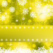 Yellow Christmas background. EPS 8 — Stock Vector