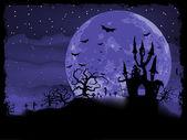 Halloween affisch med zombie bakgrund. eps 8 — Stockvektor