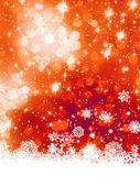 Çok renkli Noel kar tanesi ile. Eps 8 — Stok Vektör