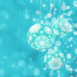 Christmas bokeh background with baubles. EPS 8 — Imagen vectorial