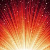 Los copos de nieve y las estrellas en el camino la luz. eps 8 — Vector de stock