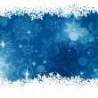 Blue Christmas Background. EPS 8 — Imagen vectorial