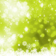 Green abstract christmas with snowflake. EPS 8 - Stock Vector