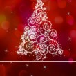 White christmas tree on abstract light. EPS 8 — 图库矢量图片
