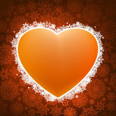 Heart applique background. EPS 8 — Stockvektor