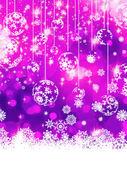 Purple Christmas background. EPS 8 — Stock Vector
