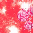 Merry Christmas with stars, bokeh lights. EPS 8 — 图库矢量图片