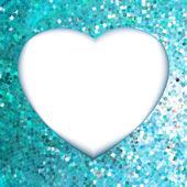 Blue frame in the shape of heart. EPS 8 — Stock Vector