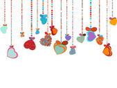 De dag van valentijnskaarten achtergrond. eps 8 — Stockvector
