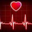 Stock Vector: Heart beating monitor. EPS 8