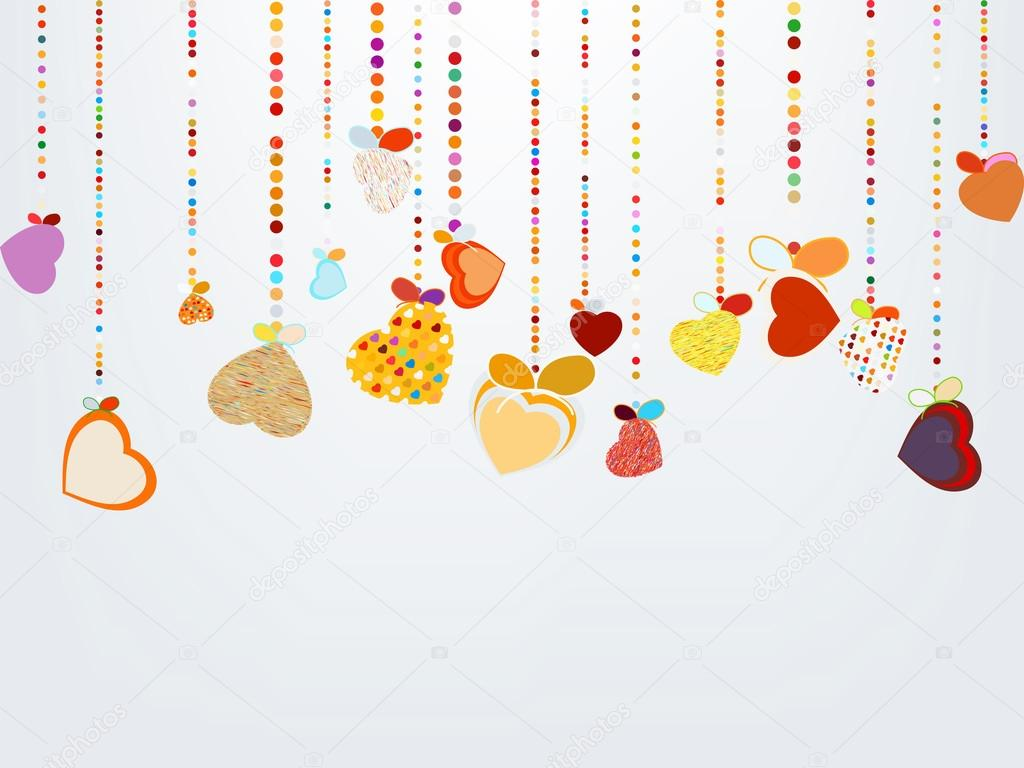 Valentines Day Background. EPS 8 vector file included  — Grafika wektorowa #19108377