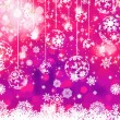 Stock Vector: Purple Christmas background. EPS 8