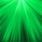 Green luminous rays. — Stock Vector