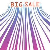 Big sale barcode banner. EPS 8 — Stock Vector