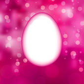 Easter eggs background with elegant bokeh. EPS 10 — Stock Vector