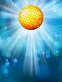Niebieskim tle z disco ball. eps 10 — Wektor stockowy