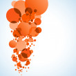 Orange rounds background — Imagen vectorial