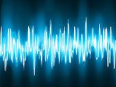 Sound waves oscillating on black. EPS 8 — Stock Vector